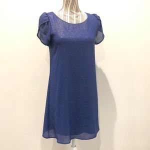 Anthropologie royal blue sparkly dress